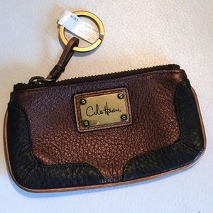 COLE HAAN NWT Leather Key Card Case Tri-Color